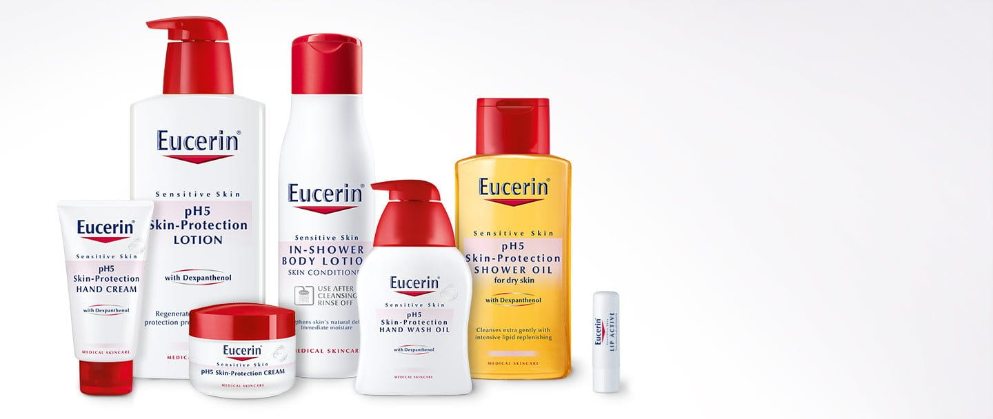 Products of Eucerin pH5 Skin-Protection range